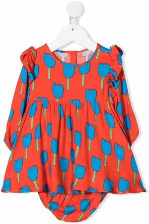 Stella McCartney Meisjes Feestjurken - Tulip-print crêpe dress