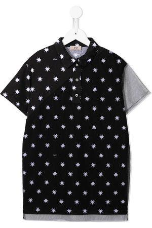 Nº21 Star-print polo dress