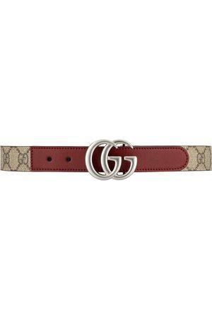 Gucci Jongens Riemen - GG logo-plaque belt