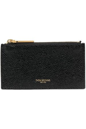 Thom Browne Wallet with zip and signature stripe detail
