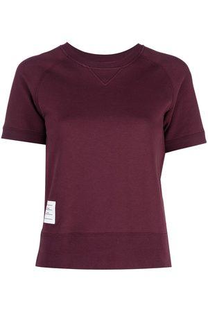 Thom Browne Dames Korte mouw - Logo patch short sleeve sweatshirt top