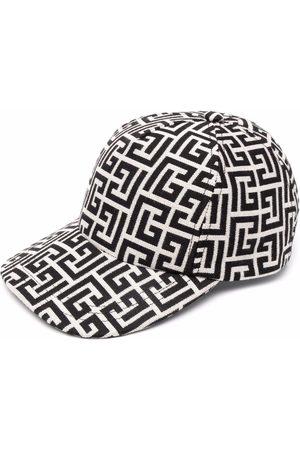 Balmain Monogram print baseball hat