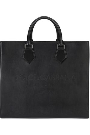 Dolce & Gabbana Logo-embossed leather tote bag