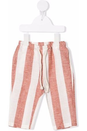 Zhoe & Tobiah Striped drawstring-waist trousers