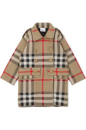 Burberry Meisjes Donsjassen - Check-print jacquard-woven coat