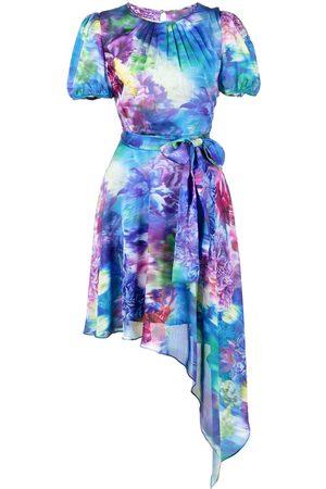 Marchesa Notte Dames Asymmetrische jurken - Short sleeve asymmetrical mini dress