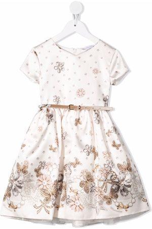 MONNALISA Floral-print short-sleeved dress