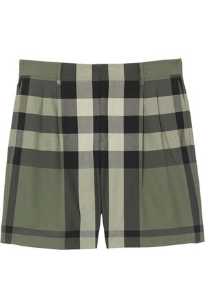 Burberry Check-print tailored shorts