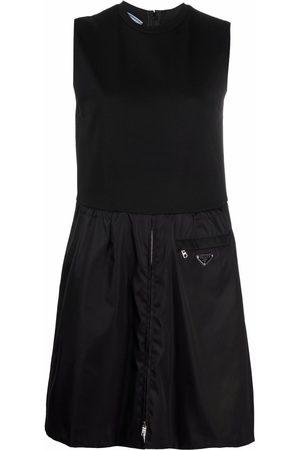 Prada Triangle patch sleeveless dress