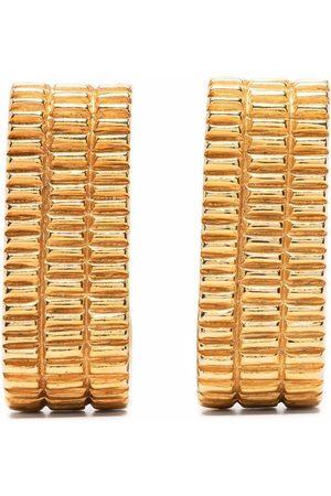 Pierre Cardin Dames Oorbellen - 1980s textured-finished clip-on earrings