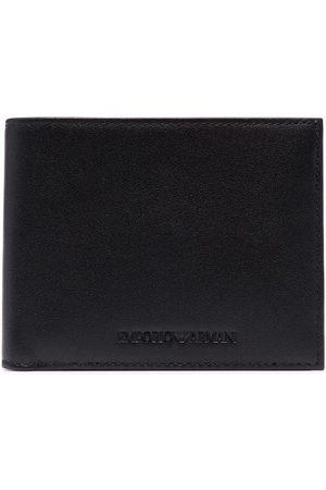 Emporio Armani Graphic-print leather cardholder