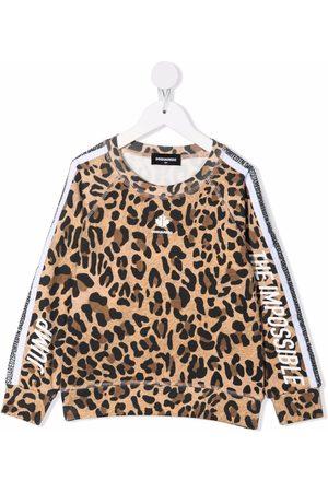 Dsquared2 Meisjes Sweaters - Logo leopard print sweatshirt