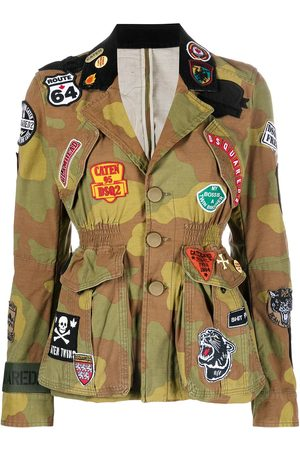 Dsquared2 Patchwork military jacket