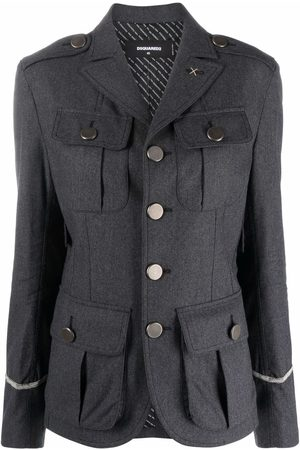 Dsquared2 Single breasted military jacket