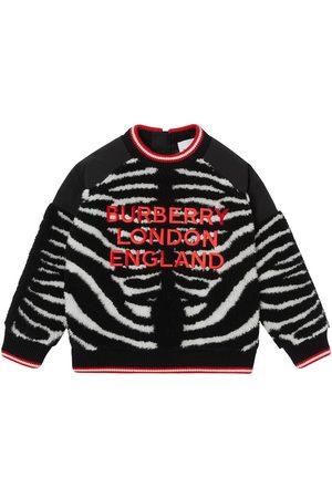 Burberry Jongens Truien - Embroidered-logo fleece jumper