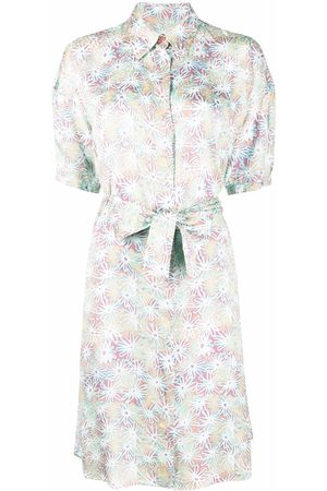 Paul Smith Floral-print belted midi dress
