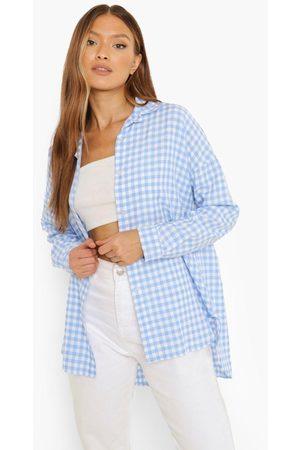 Boohoo Oversized Gingham Overhemd Met Textuur