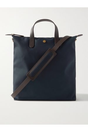 MISMO Heren Shoppers - Leather-Trimmed Nylon Tote Bag