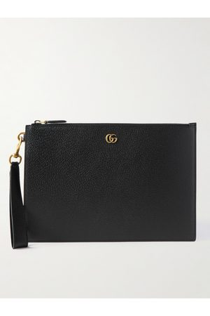 Gucci Heren Portefeuilles - GG Marmont Full-Grain Leather Pouch