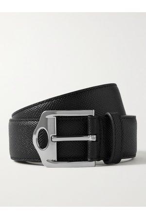 Burberry Heren Riemen - 3.5cm Pebble-Grain Leather Belt