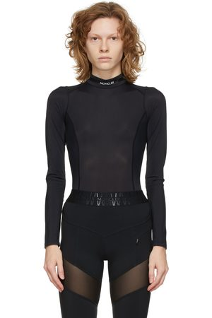 Moncler Black Logo Open Back Bodysuit