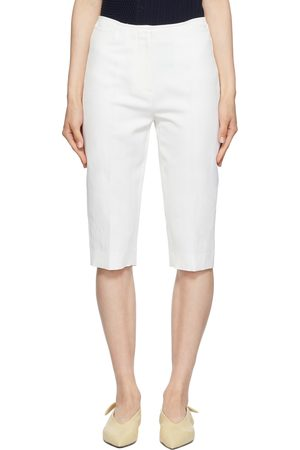 Totême White Linen City Sport Shorts