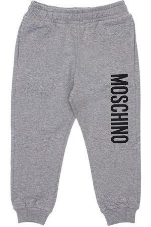 Moschino Meisjes Joggingbroeken - Logo Print Cotton Sweatpants