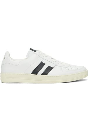 Tom Ford Heren Sneakers - White & Black Radcliffe Low-Top Sneakers