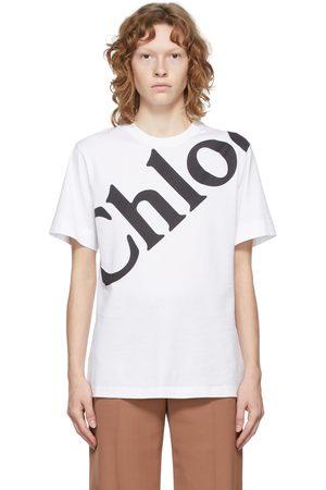 Chloé White Printed Logo T-Shirt