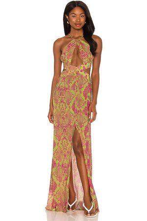 Luli Fama Halter Cut Out Dress in