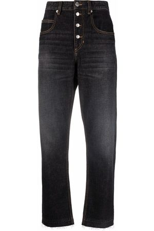 Isabel Marant Dames High waisted - High-rise tapered jeans