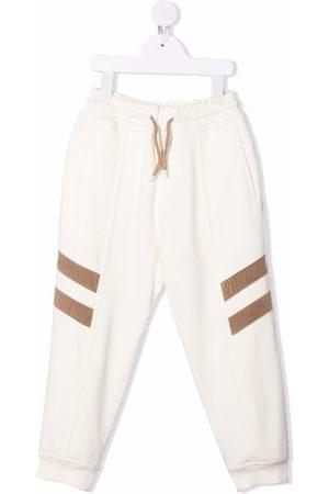 Brunello Cucinelli Jongens Joggingbroeken - Stripe-appliqué track pants