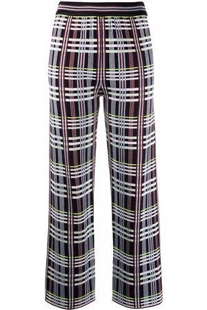 M Missoni Dames Culottes - Checked wide-leg trousers