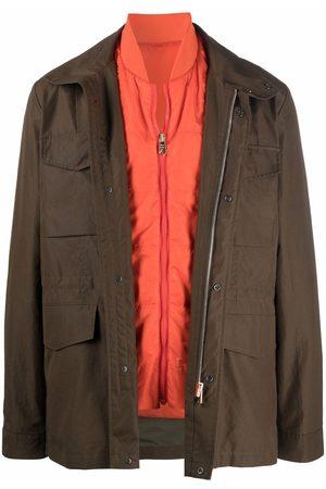 Paul Smith Heren Leger jassen - Field zip-up jacket
