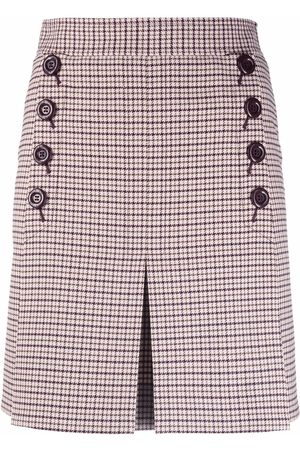 See by Chloé Dames Plooirokken - Checked pleated skirt