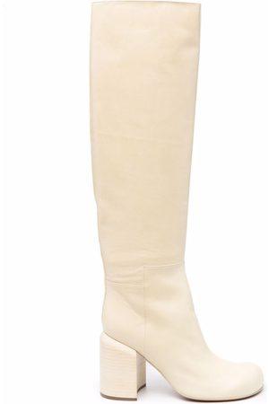 Jil Sander Dames Pumps - Knee-length high-heel leather boots
