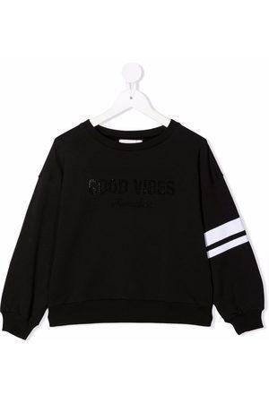 MONNALISA Side-stripe cotton sweatshirt