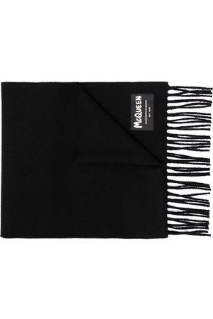 Alexander McQueen Heren Sjaals - Fringed wool scarf