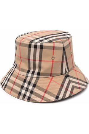 Burberry Hoeden - Check-print bucket hat