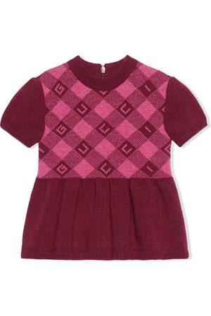 Gucci Meisjes Casual jurken - Check-pattern short-sleeve dress