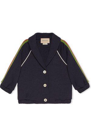 Gucci Sweaters - Stripe-detail button-fastening jumper