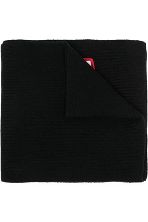Dsquared2 Heren Sjaals - Logo-patch ribbed-knit scarf