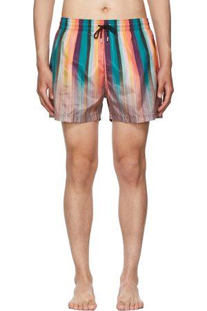 Paul Smith Heren Shorts - Multicolor Artist Stripe Swim Shorts