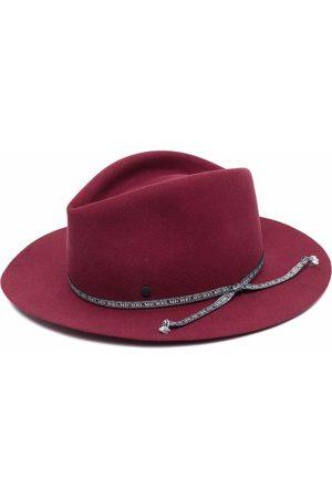 Le Mont St Michel Dames Hoeden - Logo-strap wool fedora hat
