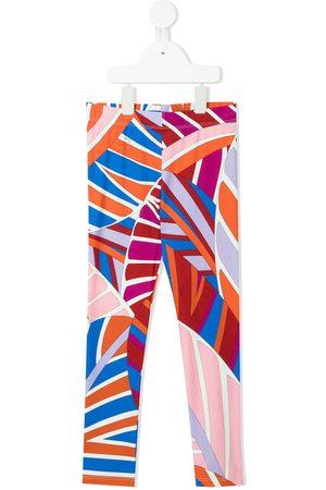 Emilio Pucci Abstract-print cotton leggings