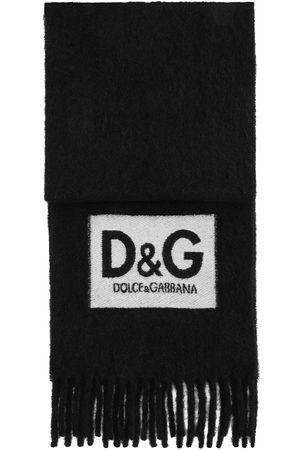 Dolce & Gabbana Heren Sjaals - Logo patch fringed scarf