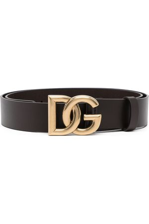 Dolce & Gabbana Heren Riemen - Logo-buckle leather belt