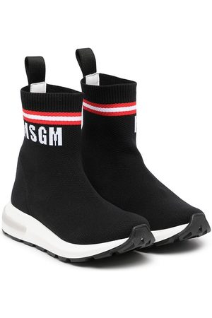 Msgm Logo-print slip-on trainers