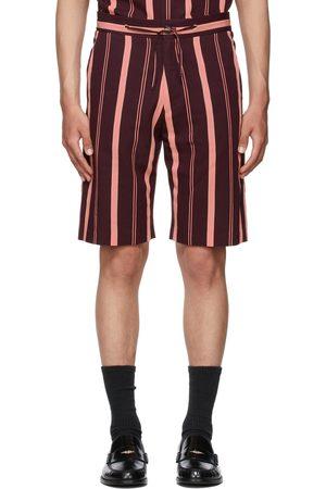 Paul Smith Heren Shorts - Pink & Burgundy Striped Shorts