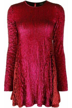 Pinko Dames Feestjurken - Sequin-embellished long-sleeve minidress
